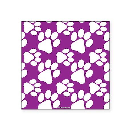 Dog Paws Purple Sticker