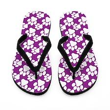 Dog Paws Purple-Small Flip Flops