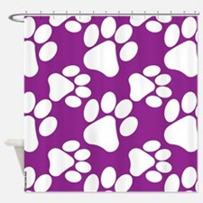 Dog Paws Purple-Small Shower Curtain