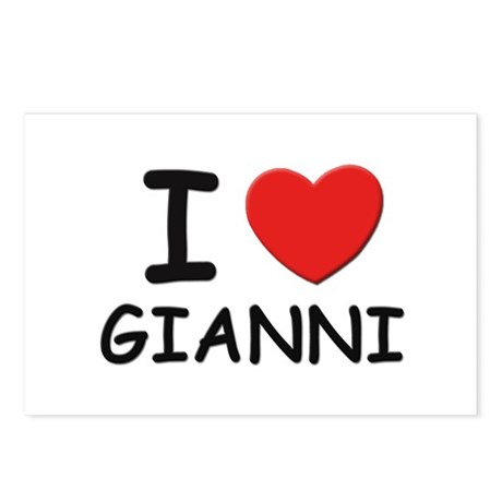 I love Gianni Postcards (Package of 8)