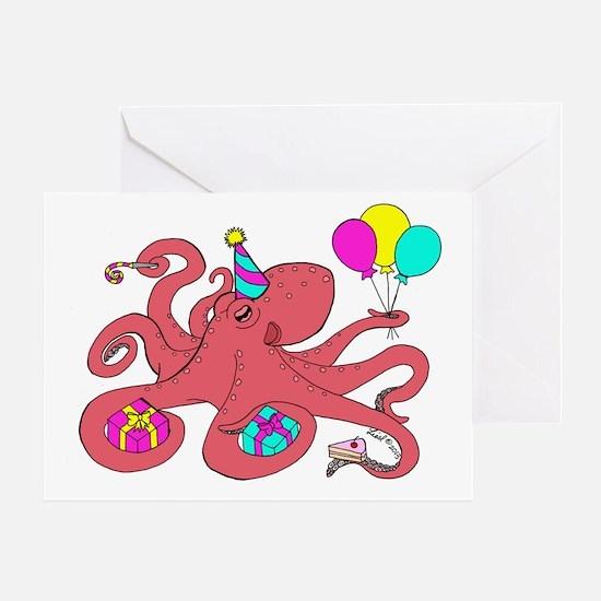 Birthday octopus Greeting Card