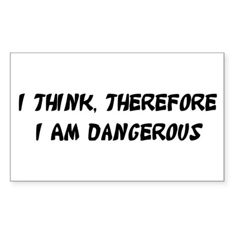 Dangerous Rectangle Sticker