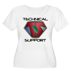 Super Tech Support - lt Plus Size T-Shirt