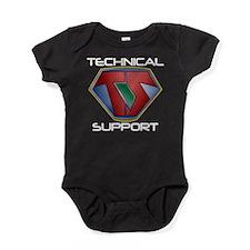Super Tech Support - dk Baby Bodysuit
