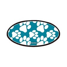 Dog Paws Teal Patches