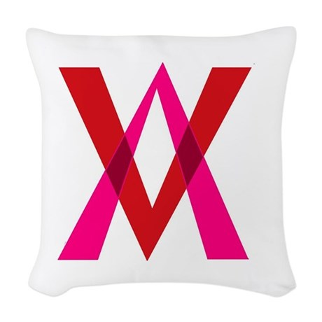 V Double V Woven Throw Pillow