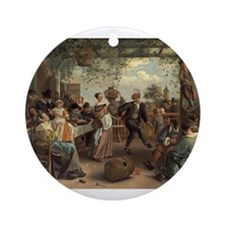 Jan Steen - The Dancing Couple Ornament (Round)