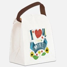 I love you more Canvas Lunch Bag