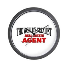 """The World's Greatest Real Estate Agent"" Wall Cloc"