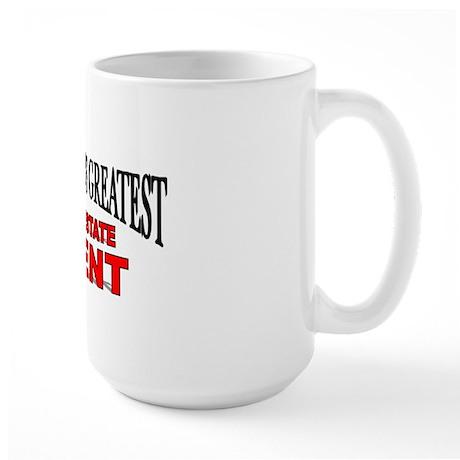 """The World's Greatest Real Estate Agent"" Large Mug"