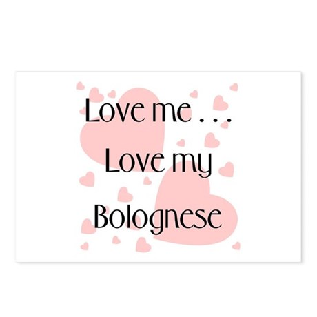 Love me...Love my Bolognese Postcards (Package of