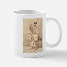 Johann Heinrich Lips - Two Naked Men Mug