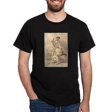Johann Heinrich Lips - Two Naked Men T-Shirt
