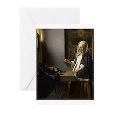 Johannes Vermeer - Woman Holding a Balance Greetin