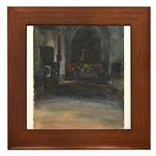 John Singer Sargent - Spanish Church Interior Fram