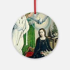 Juan de Flandes - The Annunciation Ornament (Round