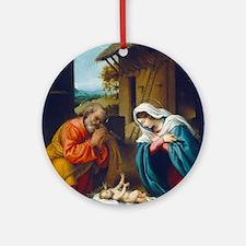 Lorenzo Lotto - The Nativity Ornament (Round)