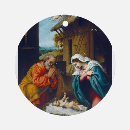 Lorenzo Lotto - The Nativity Ornament (Round)