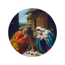 """Lorenzo Lotto - The Nativity 3.5"""" Button"""