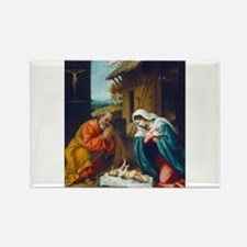 Lorenzo Lotto - The Nativity Rectangle Magnet