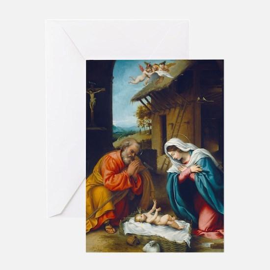 Lorenzo Lotto - The Nativity Greeting Card
