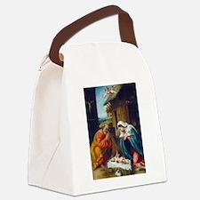 Lorenzo Lotto - The Nativity Canvas Lunch Bag