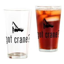 Crane Operator Drinking Glass