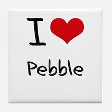 I Love PEBBLE Tile Coaster
