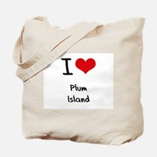 I Love PLUM ISLAND Tote Bag