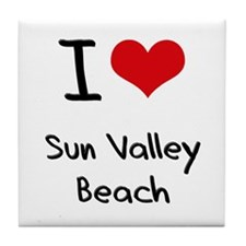 I Love SUN VALLEY BEACH Tile Coaster