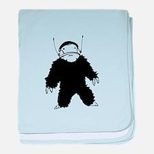 Bigfoot Alien baby blanket