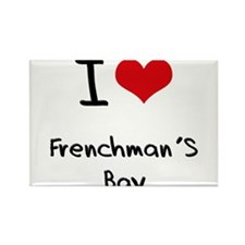 I Love FRENCHMAN'S BAY Rectangle Magnet