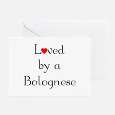 Loved by a Bolognese Greeting Cards (Pk of 10)