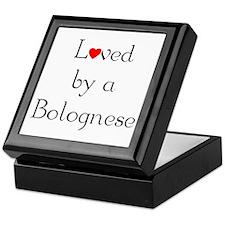 Loved by a Bolognese Keepsake Box