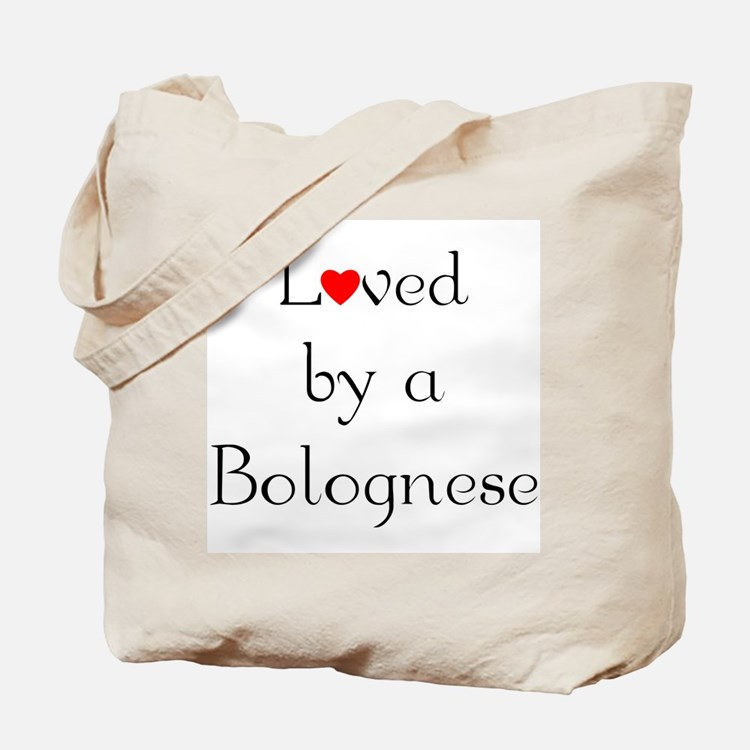 Loved by a Bolognese Tote Bag