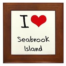 I Love SEABROOK ISLAND Framed Tile