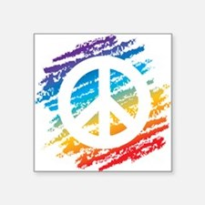 Rainbow Crayon Peace Symbol Sticker