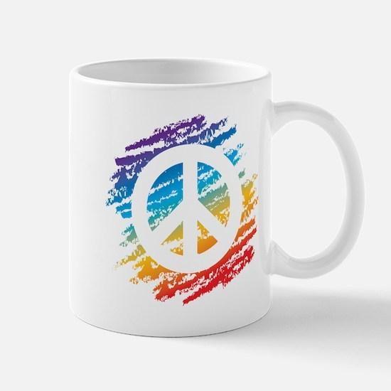 Rainbow Crayon Peace Symbol Mug