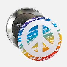 "Rainbow Crayon Peace Symbol 2.25"" Button"