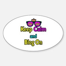 Crown Sunglasses Keep Calm And Blog On Decal