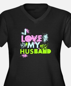 I LOVE MY HUSBAND Plus Size T-Shirt