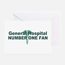 General Hospital number one fan large Greeting Car