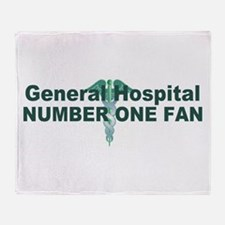 General Hospital number one fan large Throw Blanke
