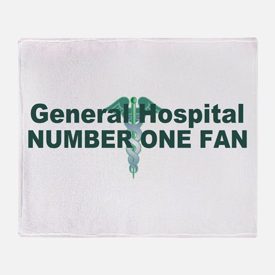 General Hospital number one fan large Throw Blanke