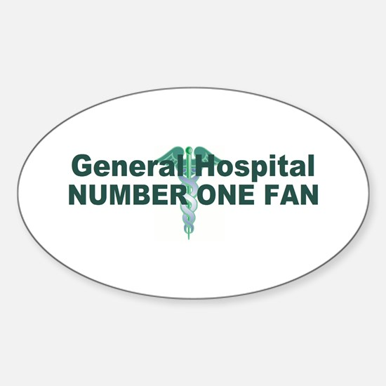 General Hospital number one fan large Decal