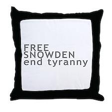 Free Snowden Throw Pillow