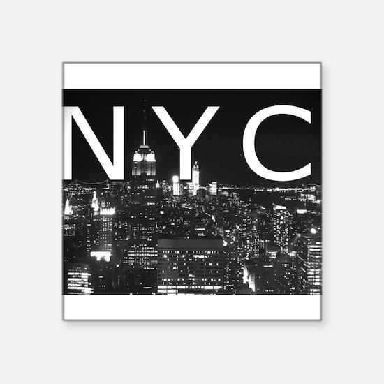 "New York 1 Square Sticker 3"" x 3"""