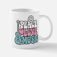 Peace Love Music Small Small Mug
