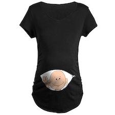 Peeking Baby Boy Maternity T-Shirt