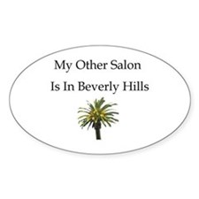My Other Salon is in Beverly Oval Decal